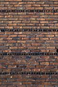 rugged brick wall - stock photo