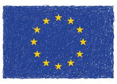 Flag of european union Stock Illustration