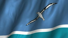 Midway Island Waving Flag Stock Footage