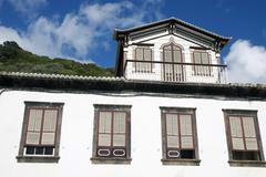 old traditional house in lages do pico, azores - stock photo