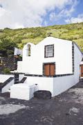 Church in lages do pico, azores Stock Photos
