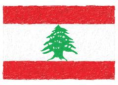 Stock Illustration of flag of lebanon