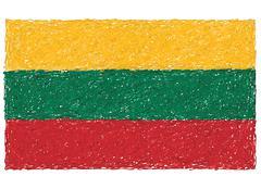 flag of lithuania - stock illustration