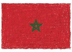 Flag of morocco Stock Illustration