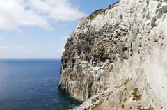 Geologic formation of morro de castelo branco Stock Photos