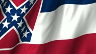 Stock Video Footage of Mississippi Waving Flag