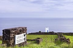 Whale watch tower in pico, azores Stock Photos