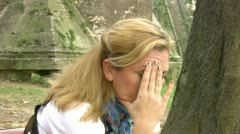 Depressed lonely women Stock Footage