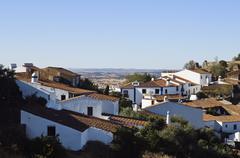 village of monsaraz, alentejo, portugal - stock photo