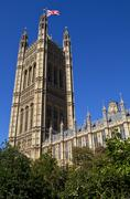 The Victoria Tower of the Houses of Parliament Stock Photos