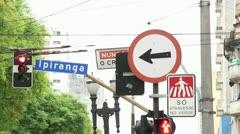 Avenida Ipiranga Stock Footage