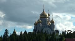 Types of Khanty-Mansiysk. Orthodox church of the Resurrection. Stock Footage