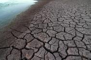 Stock Photo of Dry Mud Sea