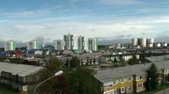Types of Khanty-Mansiysk. Residential area. Stock Footage