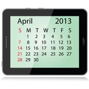 April 2013 calendar Stock Illustration