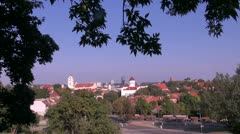Lithuanian capital Vilnius panorama Stock Footage