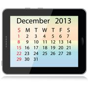 december 2013 calendar - stock illustration