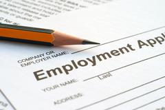 Stock Photo of employment application