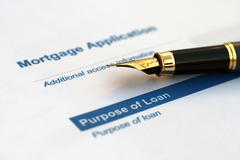 loan application - stock photo