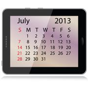 july 2013 calendar - stock illustration