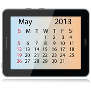 may 2013 calendar - stock illustration
