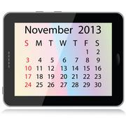 november 2013 calendar - stock illustration