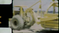 CONSTRUCTION Machinery Earthmovers 1950s (Vintage Film Retro Home Movie) 4616 Stock Footage