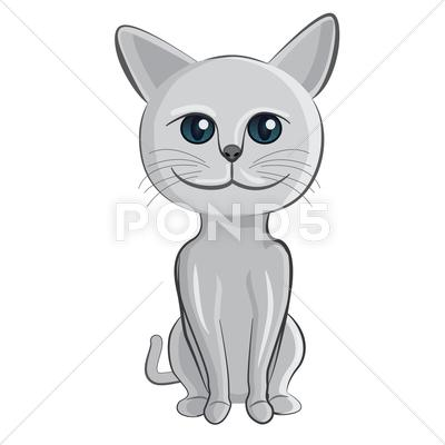 Stock Illustration of cat cartoon