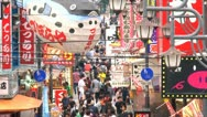 Crowded street timelapse, Osaka, Japan Stock Footage