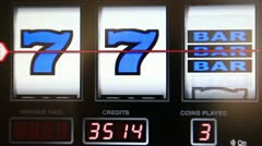 Slot machine series, wining triple bar Stock Footage