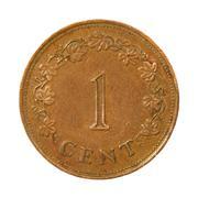 Malta monet one cent.isolated. Stock Photos