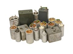 Capacitors.isolated. Stock Photos