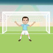 soccer goal keeper - stock illustration