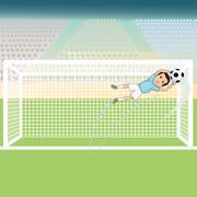 Goal keeper save Stock Illustration