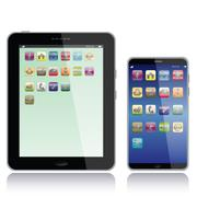 Stock Illustration of tablet pc and smart phone