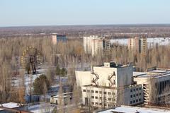 Chernobyl overview - stock photo