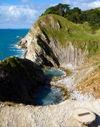 Stair Hole next to Lulworth Cove Dorset Stock Photos