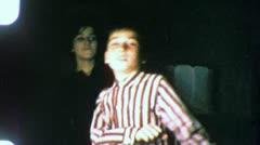 JEWISH BOY DANCING With Big Sister 1955 (Vintage Old Film Home Movie) 4858 Stock Footage