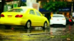 Rainy street - bangkok Stock Footage
