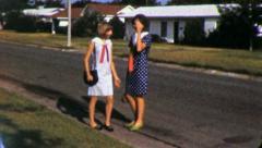 BEST Friends GIRLFRIENDS Shy Suburbia USA 1960s Vintage Film Home Movie 4862 Stock Footage
