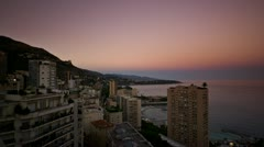 monaco view timelapse - stock footage