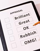 Fun performance appraisal form - stock photo