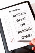 A fun performance appraisal form - stock photo
