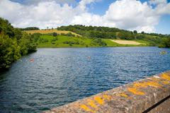 Clatworthy Reservoir Exmoor National Park Somerset - stock photo