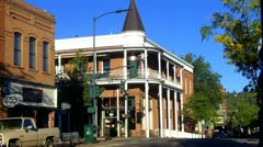 Downtown Flagstaff With Historic Weatherford Hotel Stock Footage