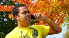Talking on a Cell Phone Stock Footage