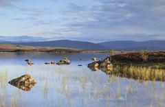 Rannoch moor loch na h-achlaise scotland Stock Photos