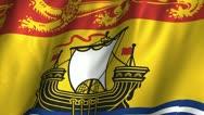 New Brunswick Waving Flag Stock Footage