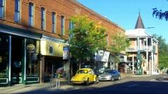 Downtown Flagstaff AZ Historic Buildings Stock Footage
