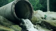 124 Ecological harm from the overflow pipe in Asia Stock Footage
